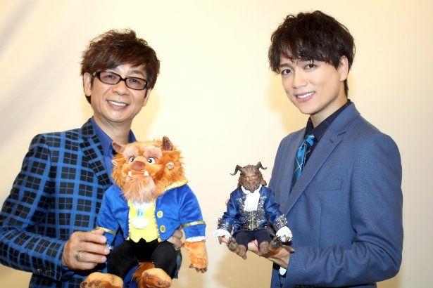 『美女と野獣』で野獣役のボイスキャストを務めた山寺宏一と山崎育三郎