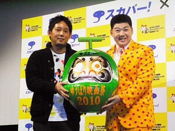 「ゆうばり国際ファンタスティック映画祭2010」のプレイベントに出席した入江悠監督と大江裕