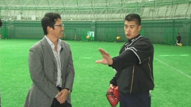 古田敦也氏、城島健司選手(写真左から)