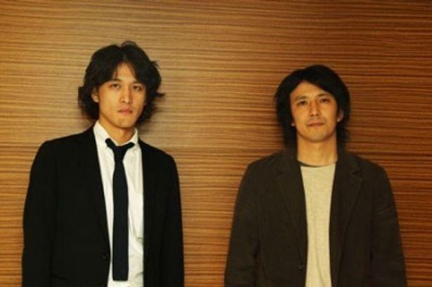 世界の映画祭から注目を集めている高橋康進監督(左)と三宅伸行監督(右)