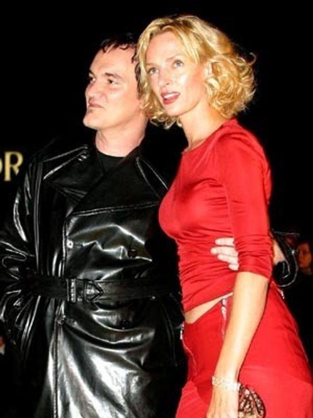 2003年ベルリンで行われた『キル・ビル』プレミアにタランティーノ監督と2ショット