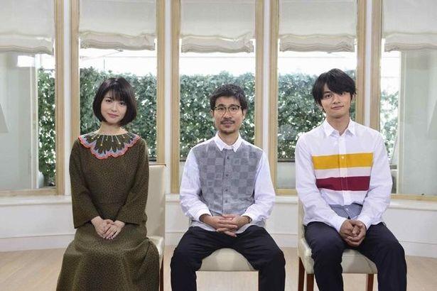 浜辺美波、月川翔監督、北村匠海(写真左から)が、撮り下ろしの特典映像に登場