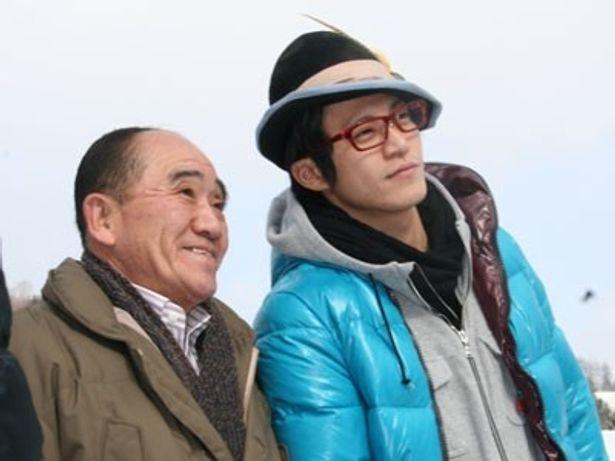 ゆうばり国際ファンタスティック映画祭の実行委員長、澤田宏一氏とパチリ