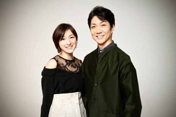 2018年公演の舞台「シャンハイムーン」で共演する、野村萬斎と広末涼子