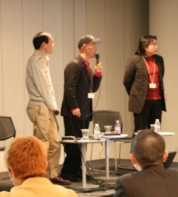 イベントには富野由悠季氏、福井晴敏氏、福江純氏が参加