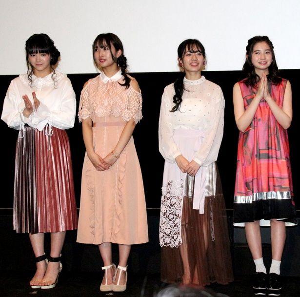 インフルエンザで恒松祐里が出演できなかったが、「阿知賀女子学院」メンバーは仲の良さを見せた