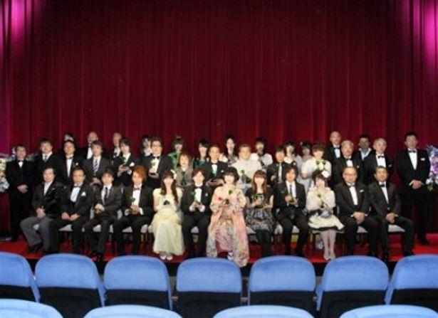 「第四回声優アワード」授賞式に出席した受賞者