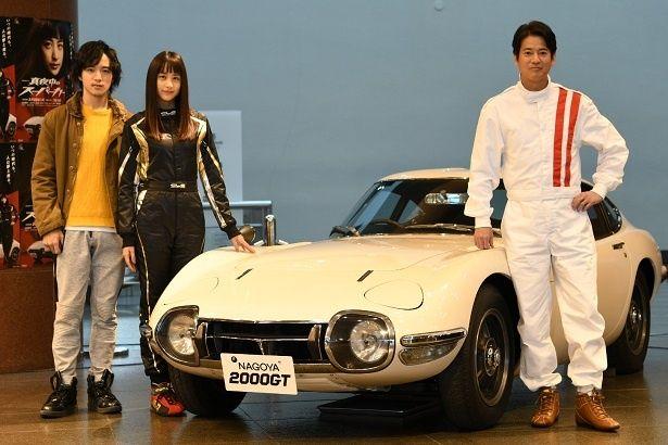 ロケ取材会に出席した上遠野太洸、山本美月、唐沢寿明(写真左から)