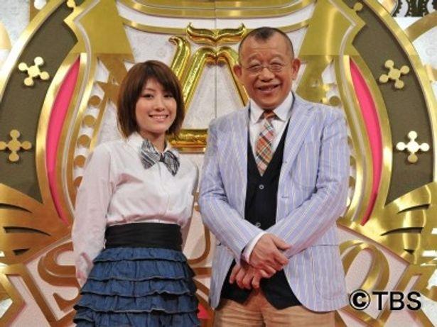 トーク番組「A-Studio」の新アシスタント・IMALUと、MCの笑福亭鶴瓶