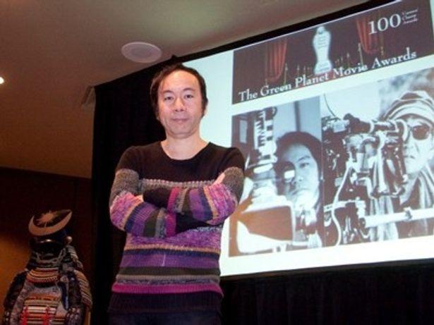現地の記者会見では「ポスト・アキラ・クロサワ」と紹介された塚本晋也監督