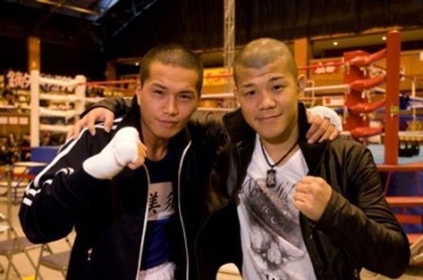 イッチーのボクサー姿に亀田選手も大満足