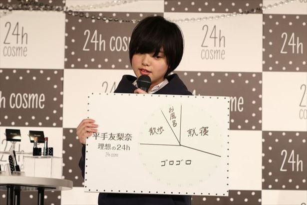 「24h cosme」ブランドミューズの就任した欅坂46の平手友梨奈