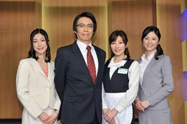 「サラリーマンNEO シーズン5」の取材会に出席した奥田恵梨華、生瀬勝久、中田有紀、原史奈(左から)