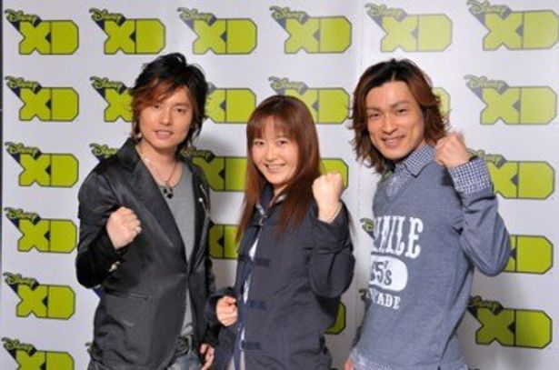 コメントを寄せたメーンキャストの森久保祥太郎、くまいもとこ、森田成一(写真左から)