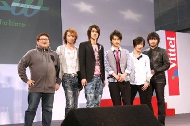 イベントに登場した水島精二監督、三木眞一郎、宮野真守、勝地涼、吉野裕行、中村悠一
