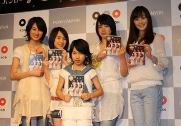 DVD「bump.y」を発売した若手女優ユニット「bump.y」