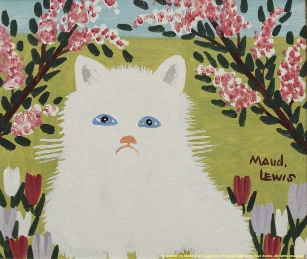 """ふわっとした白ネコを描いた""""Snowball"""""""