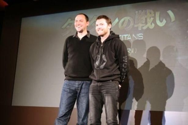 主演のサム・ワーシントンと監督のルイ・レテリエ(写真右から)
