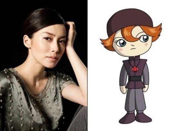 ヒロインのカーナ(右)役でアニメの声優に初挑戦する中谷美紀(左)