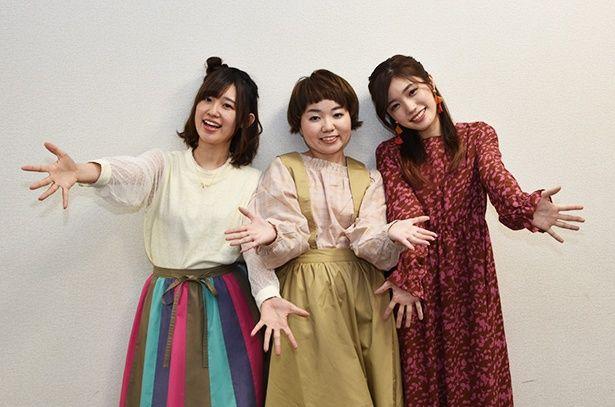 【写真を見る】「ピンク」がイメージカラーのメインヒロインを演じる3人