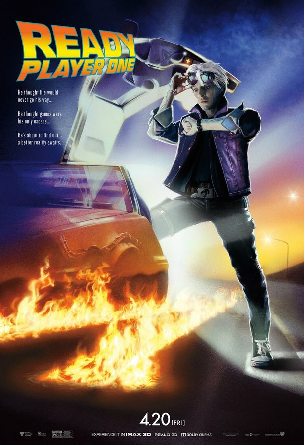 【写真を見る】マーティかと思いきやパーシヴァル!『バック・トゥ・ザ・フューチャー』1作目のポスターを完全再現