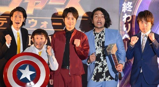 大阪道頓堀で『アベンジャーズ/インフィニティ・ウォー』の公開記念イベントイベントが行われた