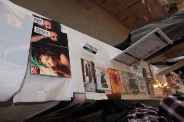 ロビーではパンフレットやイタリア映画のDVDなども販売
