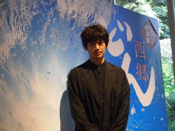 「NHK大河ドラマ特別展『西郷どん』」の報道内覧会に登壇した瑛太