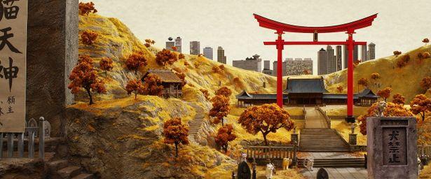 """""""メガ崎市""""の光景は、実際の場所や日本映画からインスピレーションを受けたという"""