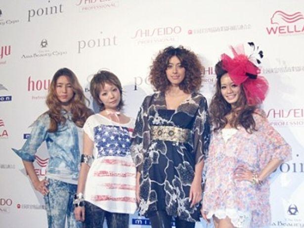 「第6回アジアビューティエキスポ」には、森泉(右から2番目)のほか、人気モデルが多数参加