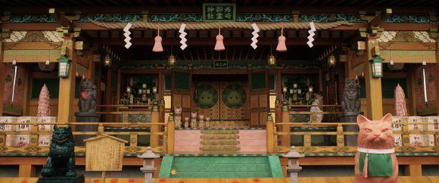 細部までこだわり抜かれた神社には数多くの狛犬が