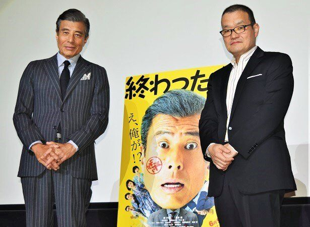 映画『終わった人』の舞台挨拶が梅田ブルク7で行われた