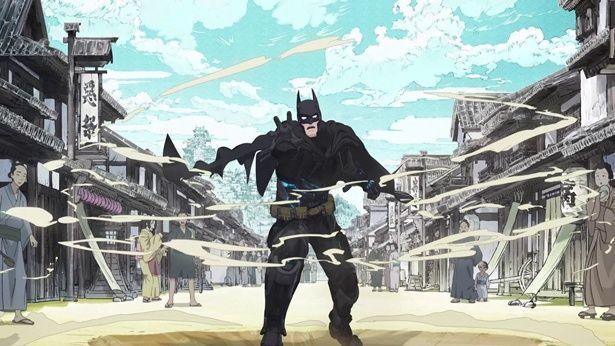 戦国時代の城下町にタイムスリップしたバットマン