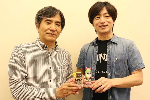 映画『ニンジャバットマン』の監督・水﨑淳平(右)と脚本家・中島かずきにインタビュー!