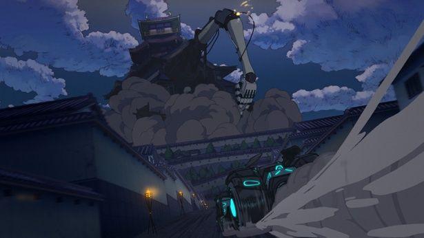 バットモービルがジョーカーの城へ向かって疾走(本編映像サンプルカット)