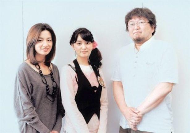 樋口真嗣監督(写真右)による初のテレビ作品「MM9」にW主演する尾野真千子(同左)と石橋杏奈(同中央)