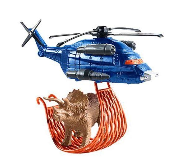 ヘリコプターで恐竜を輸送する劇中シーンも再現可能!