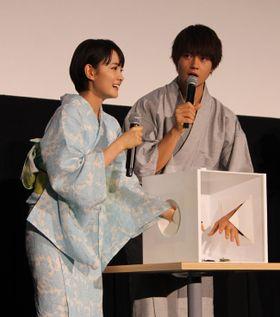 『青夏』佐野勇斗、舞台挨拶のビビりっぷりで会場爆笑!罰ゲームで変顔披露
