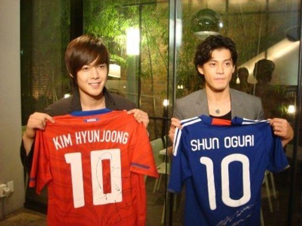 日韓『花より男子』でそれぞれ花沢類役を演じたキム・ヒョンジュンと小栗旬