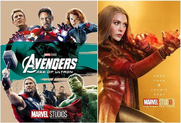 左:『アベンジャーズ/エイジ・オブ・ウルトロン MovieNEX』 右:スカーレット・ウィッチ