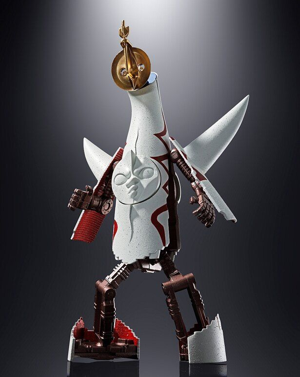 太陽の塔がなんとロボットへと変身してしまう「超合金 太陽の塔のロボ Jr.」