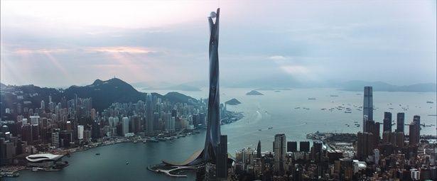 """高さ1000m超えの超高層ビル""""ザ・パール""""の存在感が凄い!『スカイスクレイパー』は9月21日(金)公開"""