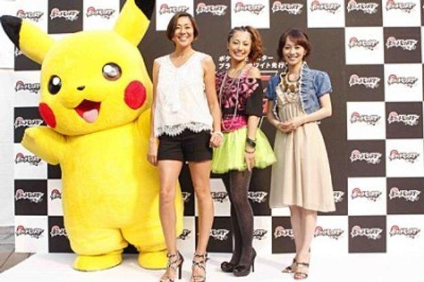 イベントに参加したRICAKO、三船美佳、木佐彩子(写真左から)