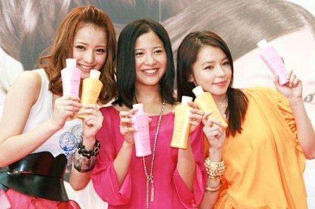 CMキャラクターを務める佐々木希、吉高由里子、ビビアン・スー(写真左から)