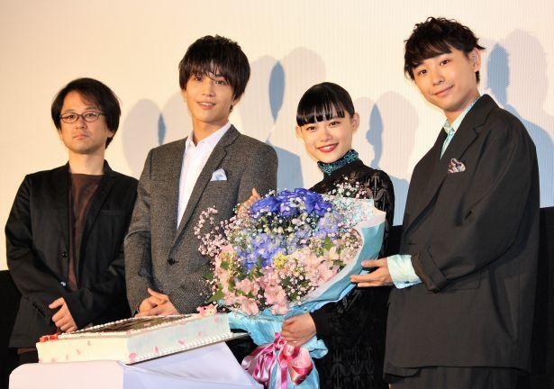 柴山健次監督、岩田剛典、杉咲花、須賀健太が登壇