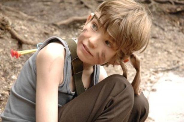 ランボーの息子役をノリノリで演じるウィル少年