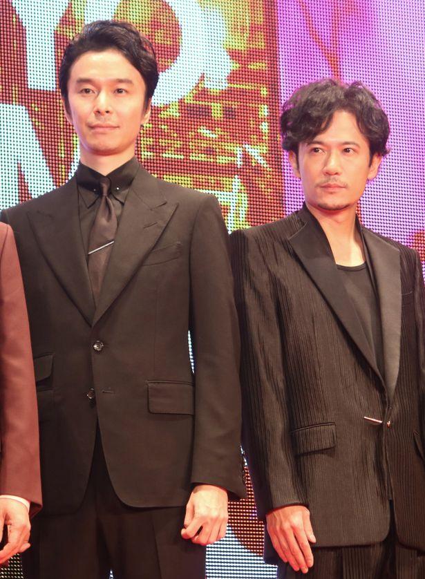 『半世界』で共演した稲垣吾郎と長谷川博己