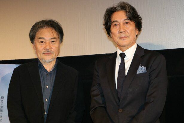 『CURE』のティーチインに登壇した役所広司と黒沢清監督