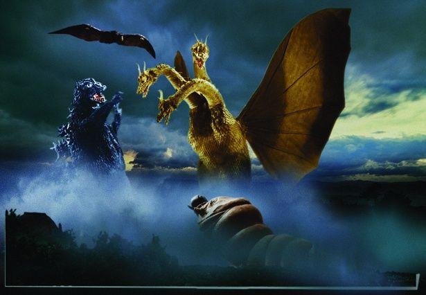 【写真を見る】キングギドラを倒すため、ゴジラとモスラ、ラドンがまさかの共闘!(『三大怪獣 地球最大の決戦』)