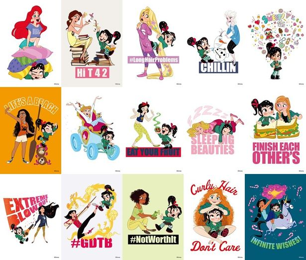 ディズニープリンセスたちの私服姿がポストカードに!